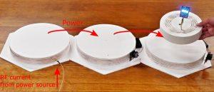 マルチホップ無線電力伝送 Multi-hop wireless power transmission.